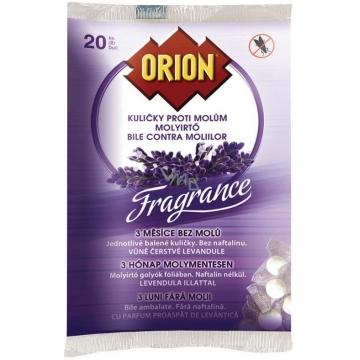 Orion kuličky proti molům levandule 20 ks