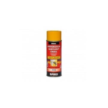 Univerzální akrylový email žlutá melounová RAL 1028, sprej 400 ml