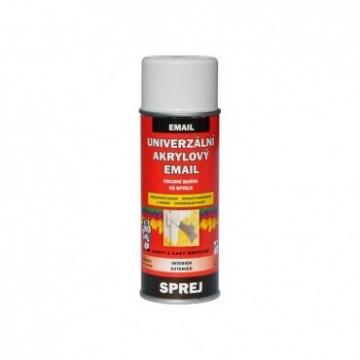 Univerzální akrylový email bílá signální RAL 9003, sprej 400 ml