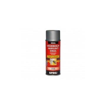 Univerzální akrylový email bílý hliník RAL 9006, sprej 400 ml