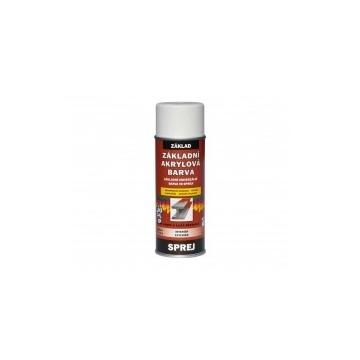 Základní akrylátová barva bílá, sprej 400 ml