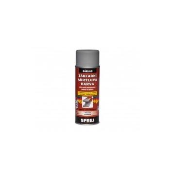 Základní akrylátová barva šedá, sprej 400 ml